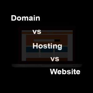 Domain vs Hosting vs Website